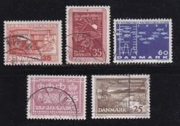 DENMARK, 1964, Used Stamp(s), Various Stamps, MI 419=425, #10084, 5 Values - Denmark