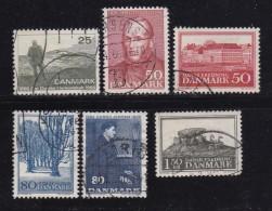 DENMARK, 1966, Used Stamp(s), Various Stamps, MI 440=448, #10089 , 6 Values - Denmark
