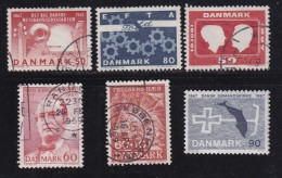 DENMARK, 1967, Used Stamp(s), Various Stamps, MI 449=466, #10091 , 6 Values - Oblitérés