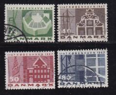 DENMARK, 1967, Used Stamp(s), Kopenhagen, MI 451-454, #10092 , Complete - Denmark