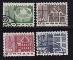 DENMARK, 1967, Used Stamp(s), Kopenhagen, MI 451-454, #10092 , Complete - Oblitérés