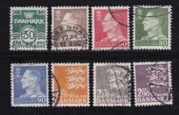 DENMARK, 1967, Used Stamp(s), Definitives, Frederik IX,, MI 456=463, #10093 , Complete - Denmark