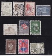 DENMARK, 1969, Used Stamp(s), Various Stamps, MI 474=487, #10096 , 10 Values - Denmark