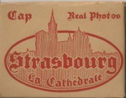 Strasbourg La Cathédrale - Pochette De 10 Mini Photos - 9 X 6,5 Cm -  Cie Des Arts Photomécaniques - En Superbe état - - Strasbourg