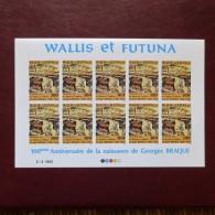 WALLIS ET FUTUNA-Feuille 10 Timbres Non Dentelés PA 115-Neuf-MNH-Georges BRAQUE - Non Dentelés, épreuves & Variétés