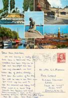 Little Mermaid, Copenhagen, Denmark Postcard Posted 1983 Stamp - Denmark
