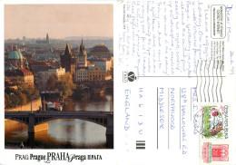 Prague Praha, Czech Republic Postcard Posted 1999 Stamp - Czech Republic