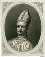STAMPA,GRAVURE Di PAPA JUAN XXIII -ANTICA COPIA DE LA GALERIA DE SAN PABLO IN ROMA-J.FURNO SCULPTURA-VEDI DESCRIZIONE - Prints & Engravings