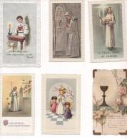 IMAGES RELIGIEUSES - LOT De 54 IMAGES DIFFERENTES NOMINATIVES COMMUNION Etc...  VOIR SCANS - Images Religieuses