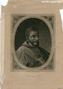 STAMPA,GRAVURE Di PAPA CLEMENTE VII -ANTICA COPIA DE LA GALERIA DE SAN PABLO IN ROMA-J.FURNO SCULPTURA-VEDI DESCRIZIONE - Prints & Engravings