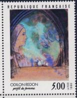 2635 PROFIL De FEMME TABLEAU De O REDON NEUF** ANNEE 1990 Bord De Feuille - Neufs