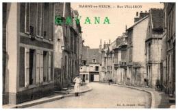 95 MAGNY-en-VEXIN - Rue Villeroy   (Recto/Verso) - Magny En Vexin