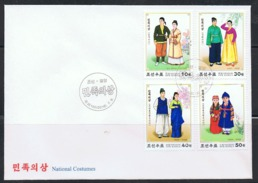 NORTH KOREA 2016 NATIONAL COSTUMES FDC - Textile