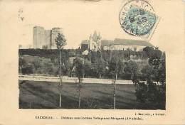 - Depts Div.-ref-JJ837- Dordogne - Excideuil - Chateau Des Comtes Talleyrand Du Perigord - Chateaux -pourtour Cadre - - France