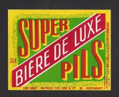 Etiquette De Bière De Luxe -  Mathieu à Gespunsart  (08)  -  33 Cl - Bière