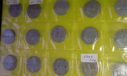 Lot 62 - 1 Franc MORLON Alu - FRANCE - 448 Pièces Monnaie - 1941 à 1959 - Valeur 248 € - France