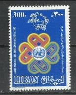 Líbano. 1983_Año Mundial De Las Telecomunicaciones. - Líbano