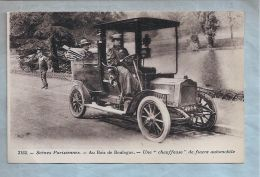 """CPA - Bois De Boulogne (75) - 2152. Scènes Parisiennes - Une """"Chauffeuse"""" De Fiacre Automobile - Taxi & Carrozzelle"""