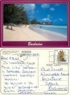 Rockley Beach, Barbados Postcard Posted 1989 Stamp - Barbados