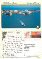 Cruise Liner Ships, San Juan, Puerto Rico Postcard Posted 2002 Stamp - Puerto Rico