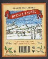 Etiquette De Bière  De Noël  -  Brasserie De Saint Sylvestre Cappel  (59) - Bier