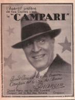 Publicité  1927 - L´apéritif Préféré De Nos étoiles C´est Le Campari David Campari Paris - Dranem - Reclame