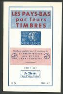 """PAYS-BAS: Les Pays-Bas Par Les Timbres, Brochure Du """"Le Monde Des Philatéliste"""",1964 - Bibliografie"""