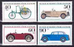 Série De 4 T.-P. Gommés Surtaxés Neufs** - Véhicules Historiques Musée De Munich - N° 955-956-957-958 (Yvert) - RFA 1982 - [7] Federal Republic