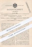 Original Patent - Fabrik Explosionssicherer Gefäße GmbH , Salzkotten 1900 , Gefäße Mit Feuergefährlicher Flüssigkeit - Historische Dokumente