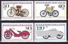 Série De 4 T.-P. Neufs** - Motocyclettes Historiques Des Musées Allemands - N° 1000-1001-1002-1003 (Yvert) - RFA 1983 - [7] Repubblica Federale