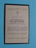 DP Marie-Josèphine-Henriette De LANTSHEERE 19 Fev. 1882 à L'âge De 1 An 10 Mois ( Zie Foto's ) ! - Obituary Notices
