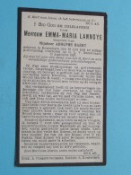 DP Emma-Maria LANNOYE ( Adolphe BAERT ) Rousselare 28 Juli 1859 - 15 Aug 1932 ( Zie Foto's ) ! - Avvisi Di Necrologio