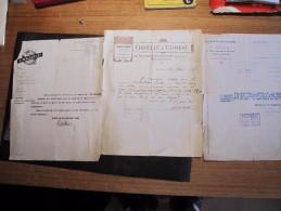 VANDERLINDEN Gustave, Forgeron, Belge, 6 Attestations D'employeurs Français Durant La Guerre 14/18 - Vieux Papiers
