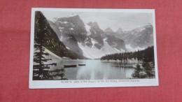 Morraine Lake In The Valley Of Ten PeaksRPPC= Ref 2324 - Canada