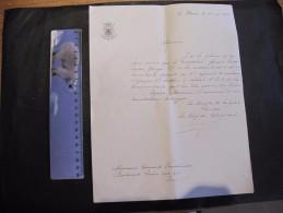 MINISTERE DE LA GUERRE-LE HAVRE LE 18/5/15-lettre Atteste De La Présence VANDERLINDEN Georges Au 6e Régiment D'artilleri - 1914-18
