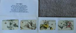 MINT Flower PUZZLE Set Of 4 From KOREA - Corée Du Sud