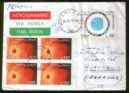 AEROGRAMME - RACCOMANDATA ESPRESSO - Anno 1977 - 6. 1946-.. Repubblica