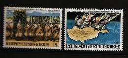 Chypre Cyprus 1984 N° 613 / 4 ** Invasion, Turquie, Fils Barbelés, Droits De L'homme, Politique, Incendie Flamme Pompier - Cyprus (Republic)