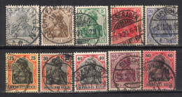 SALE! Deutsches Reich 1905/15, MiNr 83-93 Used (15) Missing MiNr 91 -  Some Nice Postmarks - Oblitérés