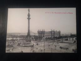 1771L)  Spain España Barcelona Monumento A Colón Y Aduana Ed. Angel T. Viazo - Barcelona
