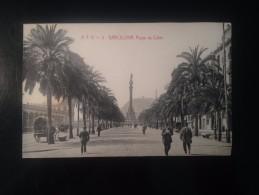 1771M)  Spain España Barcelona Paseo De Colón Ed. Angel T. Viazo - Barcelona