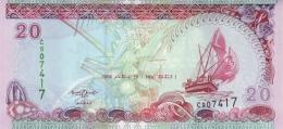 MALDIVES 20 RUFIYAA 2008 (AH1430) P-20c UNC  [ MV212b ] - Maldives