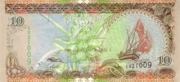 MALDIVES 10 RUFIYAA 2006 (AH1427) P-19c UNC  [ MV211c ] - Maldiven