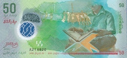 MALDIVES 50 RUFIYAA 2015 (AH1436) PNL UNC  [ MV218a ] - Maldiven