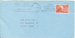 Norway Cover Sent To Denmark Bergen 16-5-1983 Single Franked (Stött Den Bla Nellik Blarussens Humanitaere Aksjon) - Norvège