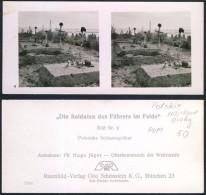 Groby Walczących żołnierzy 8. STEREOSKOPOWE II WŚ - Stereoscopy-Pologne-Poland - Photos Stéréoscopiques