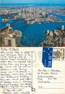 Aerial View, Sydney, NSW, Australia Postcard Posted 1989 Stamp - Sydney