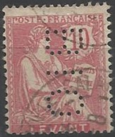 Colonie LEVANT N° 14 BIO 2 Indice 5 Perforé Perforés Perfins Perfin - Levant (1885-1946)