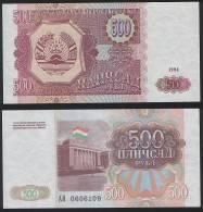 Tajikistan P 8 A - 500 Rubles 1994 - UNC - Tagikistan