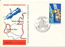 Germany DDR FDC 5-9-1978 Sojus 31 With Cachet - FDC & Gedenkmarken